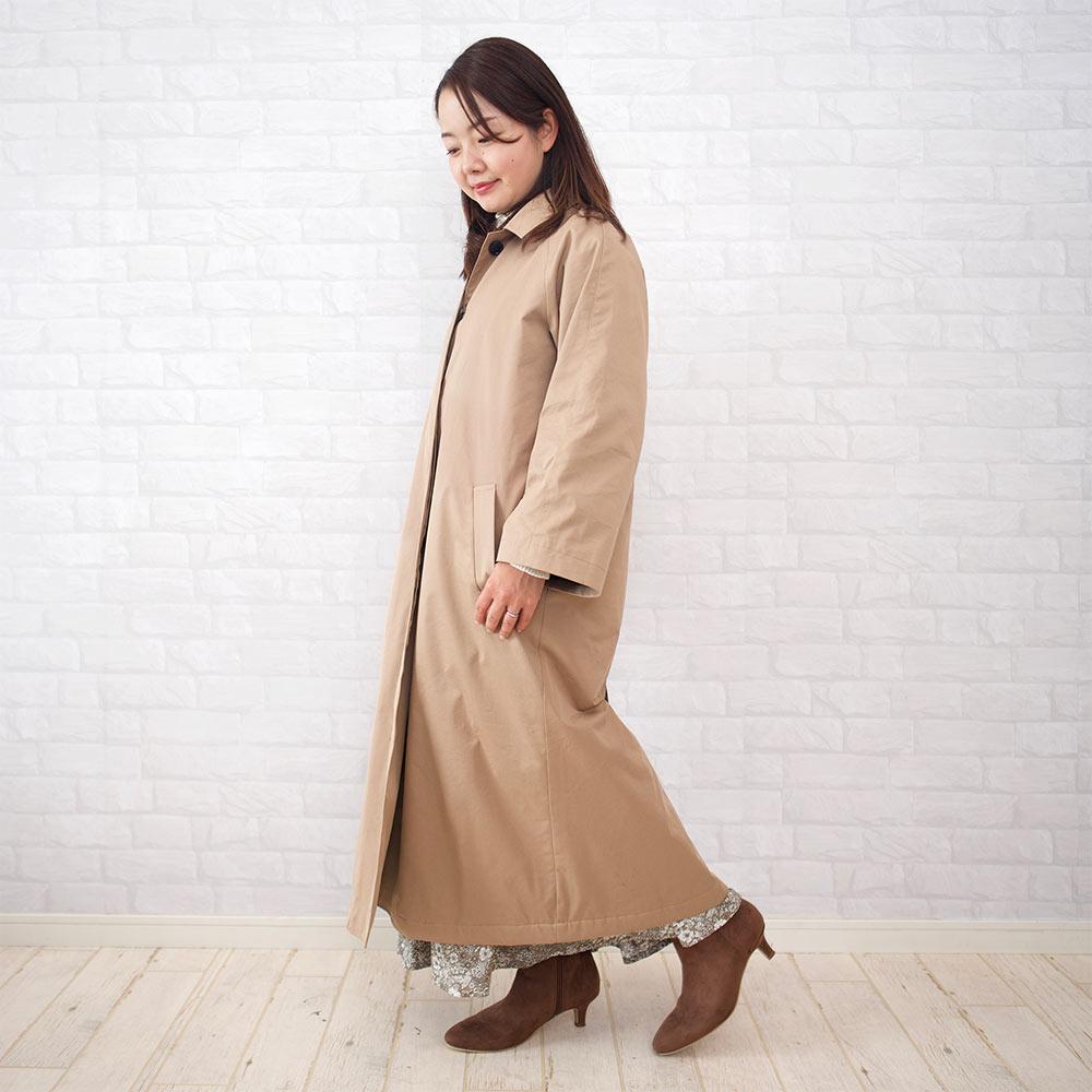 長い丈のアウター・コートを150cmの小さいさんが合わせるコツは?